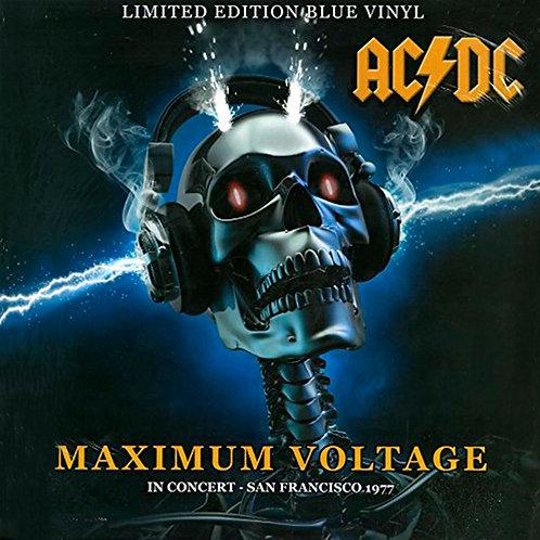 AC/DC LP Maximum Voltage - In Concert - San Francisco '77 (Blue Coloured Vinyl)