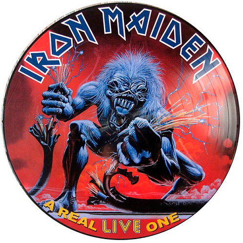 IRON MAIDEN LP A Real Live One (Picture Disc Promo)