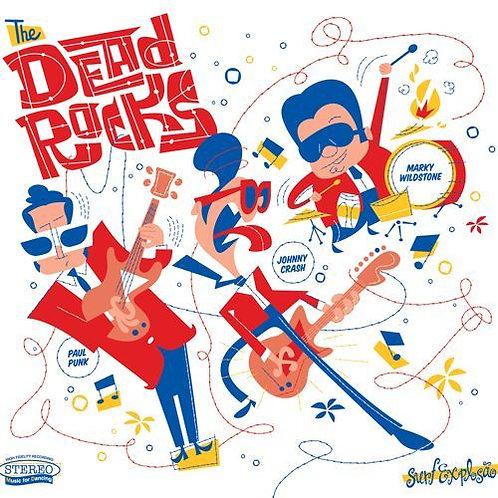 THE DEAD ROCKS LP Surf Explosao (White Coloured Vinyl)