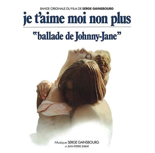 """SERGE GAINSBOURG LP Bande Originale Du Film """"Je T'Aime Moi Non Plus"""""""