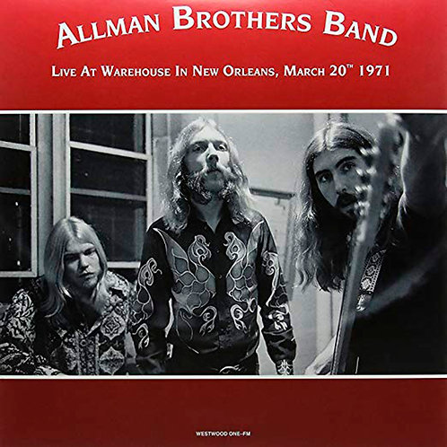 ALLMAN BROTHERS BAND 2xLP Live At The Warehouse In New Orleans, March 20th 1971