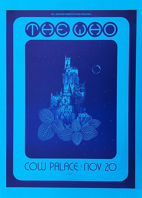 THE WHO POSTER Live At Cow Palace