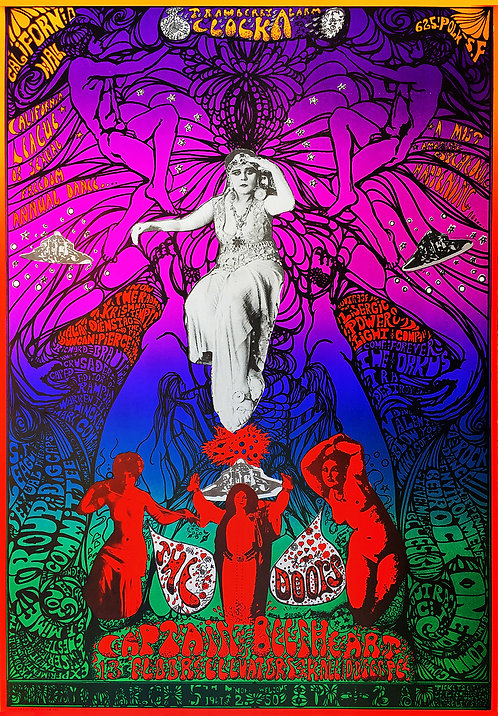 THE DOORS POSTER West Coast Psychedelic Festival