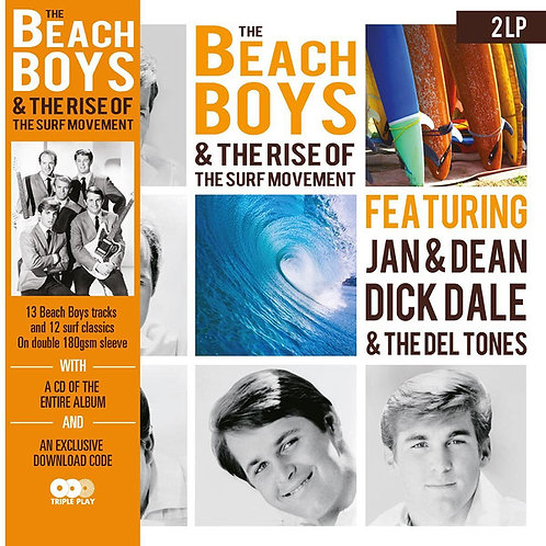 BEACH BOYS 2xLP+CD The Rise of The Surf Movement