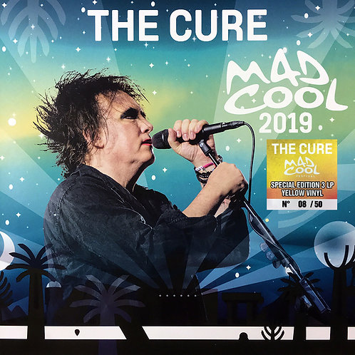 THE CURE 3xLP MAD COOL 2019 MADRID (Yellow Coloured 50 Numbered Copies)