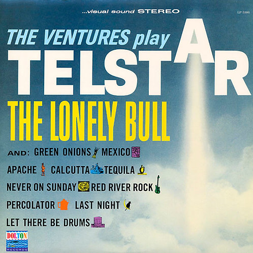 THE VENTURES LP Play Telstar - The Lonely Bull (Yellow Coloured Vinyl)