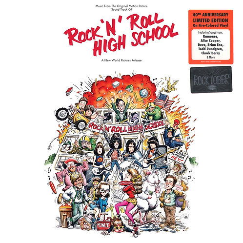 RAMONES LP Rock 'N' Roll High School Soundtrack (Fire Coloured Vinyl)