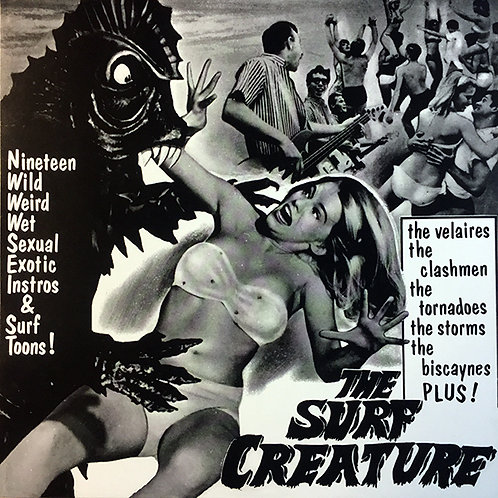 VARIOS LP The Surf Creature 19 Wild Weird Wet Sexual Exotic Instros & Surf Toons