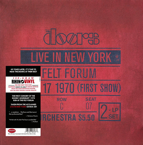 THE DOORS 2xLP Live In New York