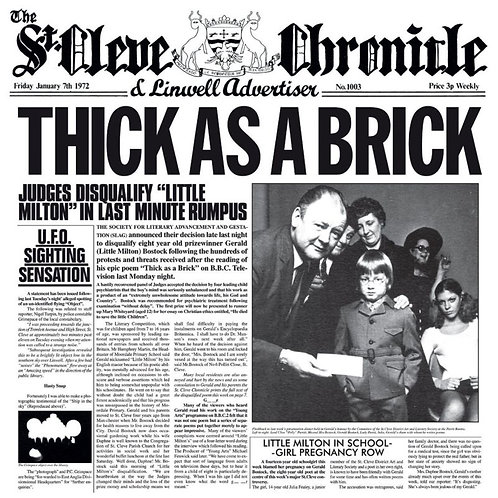 JETHRO TULL CD Thick As A Brick (The 2012 Steven Wilson Stereo Remix)