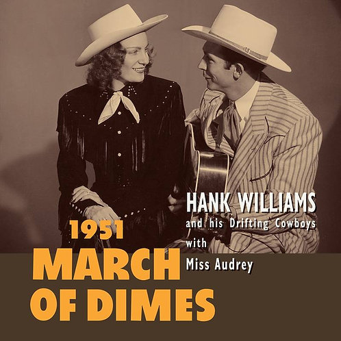 """HANK WILLIAMS 10"""" March of Dimes (Red Coloured Vinyl) (RSD Drops September)"""