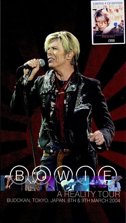 DAVID BOWIE BOX SET 4xCD Budokan, Tokyo, Japan 8th & 9th March 2004 (Longbox)