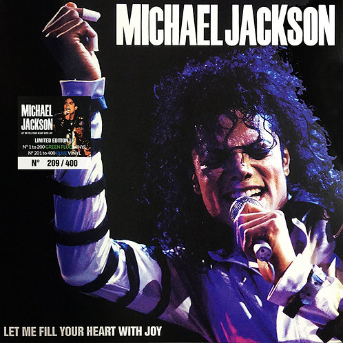 MICHAEL JACKSON LP Let Me Fill Your Heart With Joy (Blue Coloured Number Vinyl)
