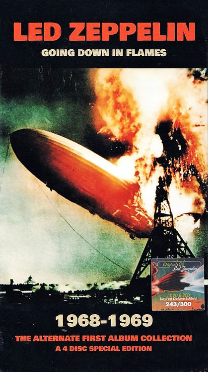 LED ZEPPELIN BOX SET 3xCD+DVD Going Down In Flames (Longbox)