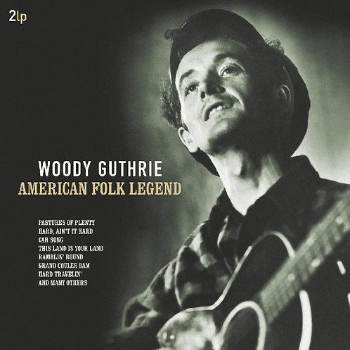 WOODY GUTHRIE 2xLP American Folk Legend