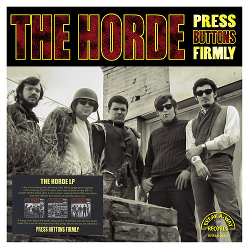 THE HORDE LP Press Buttons Firmly (Cover 1)