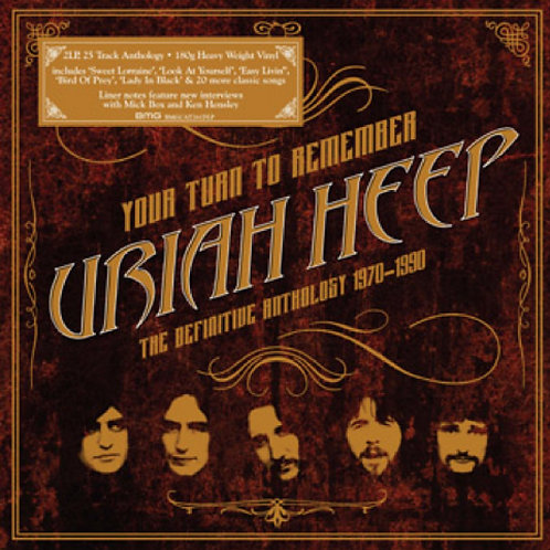 URIAH HEEP 2xLP Your Turn To Remember - The Definitive Anthology 1970-1990