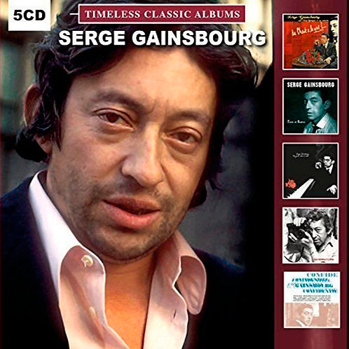 SERGE GAINSBOURG BOX SET 5xCD Timeless Classic Albums