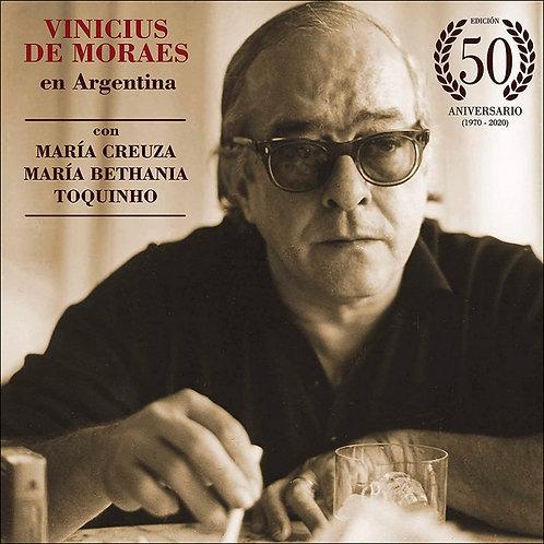 VINICIUS DE MORAES 3xLP En Argentina 50 Aniversario Creuza Bethania Toquinho