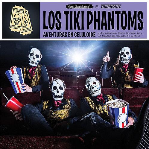 LOS TIKI PHANTOMS LP+CD Aventuras En Celuloide
