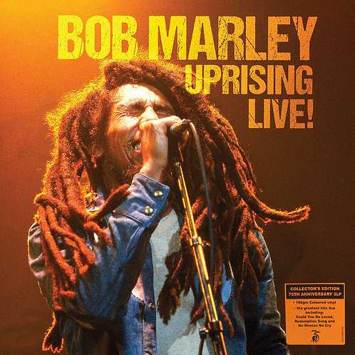 BOB MARLEY 3xLP Uprising Live! (Limited Edition Orange Coloured Vinyl)