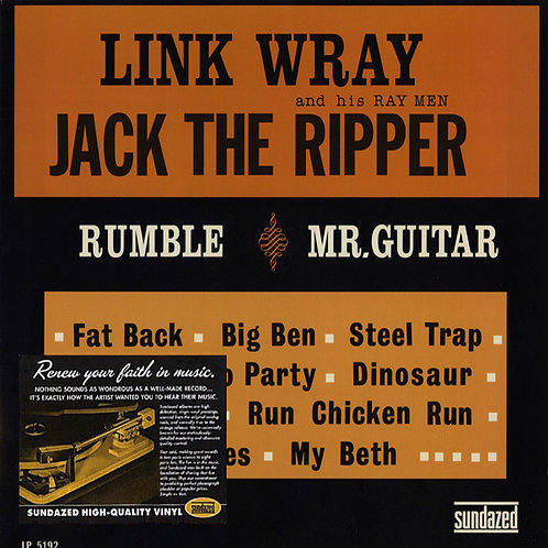 LINK WRAY AND HIS RAY MEN LP Jack The Ripper