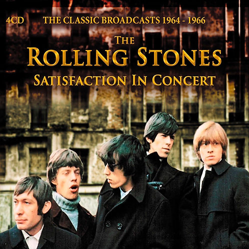 ROLLING STONES 4XCD Satisfaction In Concert: The Classic Broadcasts 1964-1966