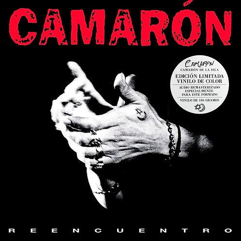 CAMARON LP Reencuentro (Transparent Red Black Marbled Effect Coloured Vinyl)