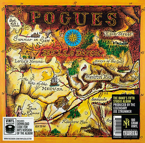 THE POGUES LP Hell's Ditch