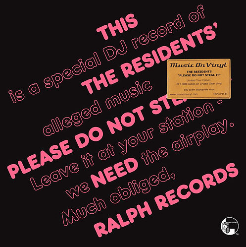 THE RESIDENTS LP  Please Do Not Steal It! (Crystal Clear Coloured Vinyl)
