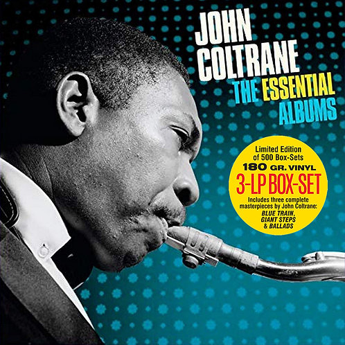 JOHN COLTRANE 3xLP BOX SET The Essential Albums Blue Train, Giant Steps, Ballads