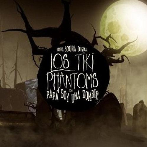 """LOS TIKI PHANTOMS 7"""" EP Papa Soy Una Zombie (Banda Sonora Original)"""