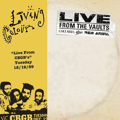 "LIVING COLOUR 2xLP ""Live From CBGB's"" Tuesday 12/19/89 (Record Store Day 2018)"