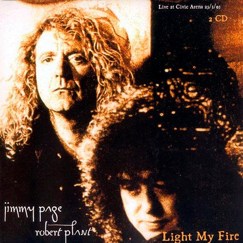 JIMMY PAGE ROBERT PLANT 2xCD+DVD Light My Fire