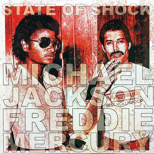 MICHAEL JACKSON FREDDIE MERCURY LP State Of Shock (Blue Picture Disc Numbered)