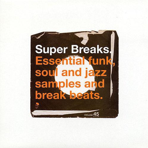 VARIOS 2xLP Super Breaks. Essential Funk, Soul And Jazz Samples And Break Beats