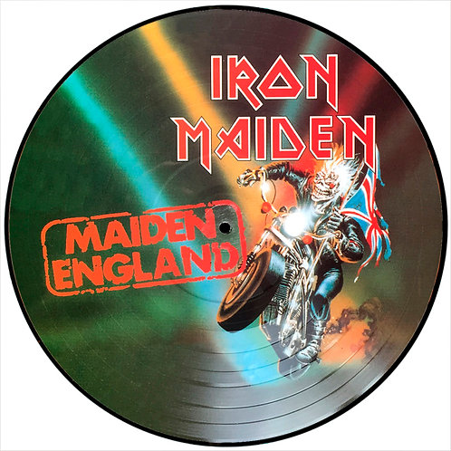 IRON MAIDEN LP Maiden England (Picture Disc Promo)