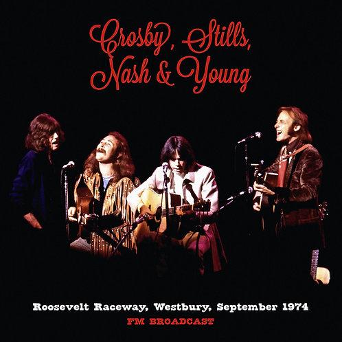 CROSBY, STILLS, NASH & YOUNG 2xLP Roosevelt Raceway, Westbury, September 1974
