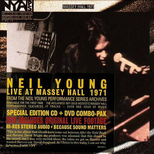 NEIL YOUNG CD+DVD Live At Massey Hall 1971 HDCD