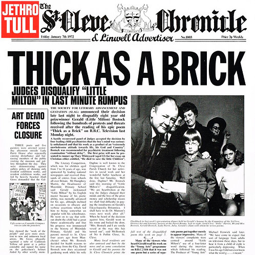 JETHRO TULL LP Thick As A Brick (Steven Wilson Stereo Remix)