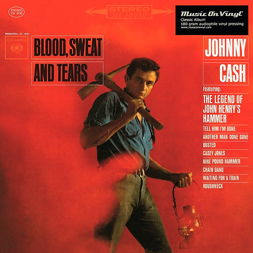 JOHNNY CASH LP Blood, Sweat And Tears (180 gram audiophile vinyl)