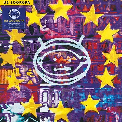 U2 2xLP Zooropa (Blue Coloured Vinyl) Remastered + Bonus Tracks)