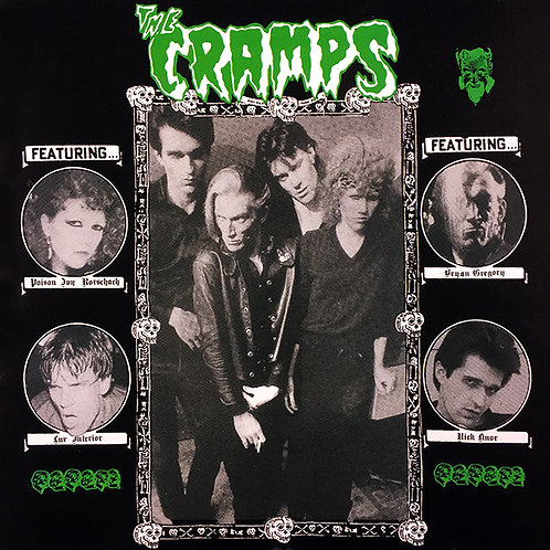 THE CRAMPS LP De Lux Album (Green Coloured Vinyl)