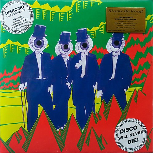 THE RESIDENTS LP Diskomo / Goosebump (Blue Coloured Vinyl