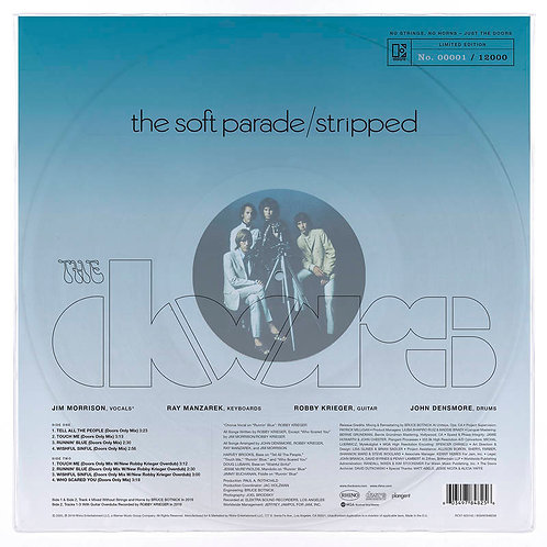 THE DOORS LP The Soft Parade: Stripped (Clear Vinyl) (RSD Drops September)