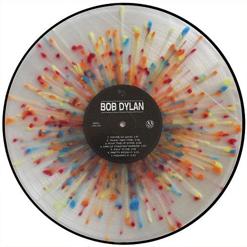 BOB DYLAN LP First Album (Multicoloured Splatter Coloured Vinyl)