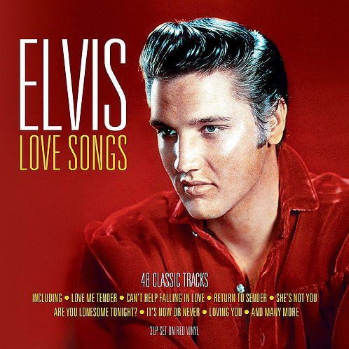 ELVIS PRESLEY 3xLP Love Songs - 48 Classic Tracks (Red Coloured Vinyls)