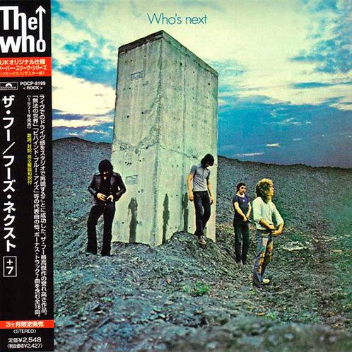 THE WHO CD Who's Next + 7 Bonus Track (Japan)