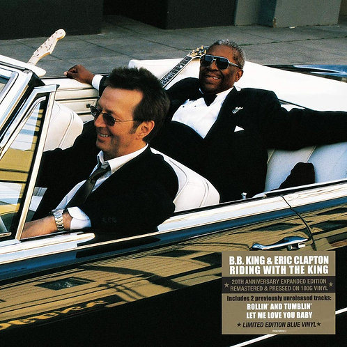B.B. KING & ERIC CLAPTON 2xLP Riding With The King 20th Anniversary Blue Colour