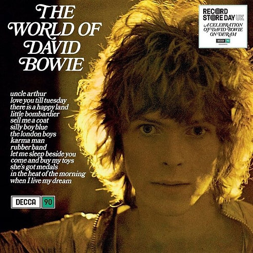 DAVID BOWIE LP The World Of David Bowie (Blue Coloured Vinyl Record Store 2019)